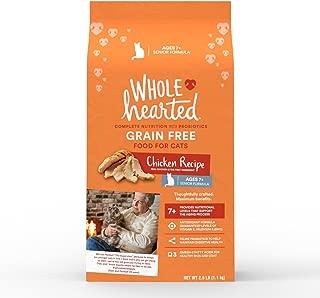 WholeHearted Grain Free Senior Chicken Recipe Dry Cat Food