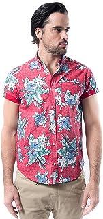 Men's Hawaiian Aloha Shirt Vintage Casual Button Down Tee