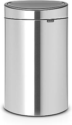 ブラバンシア ダストボックス タッチビン 23+10L分別タイプ FPPマットスチール 【ベルギー製】 112867