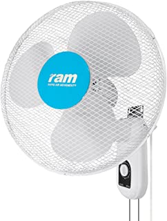 RAM Memoria Pared Ventilador 400 mm, 44 x 19 x 44 cm, Color Blanco, 08 – 355 – 295