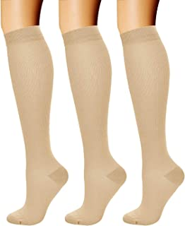 Compression Socks for Women & Men (3 Pairs) 15-20 mmHg is...