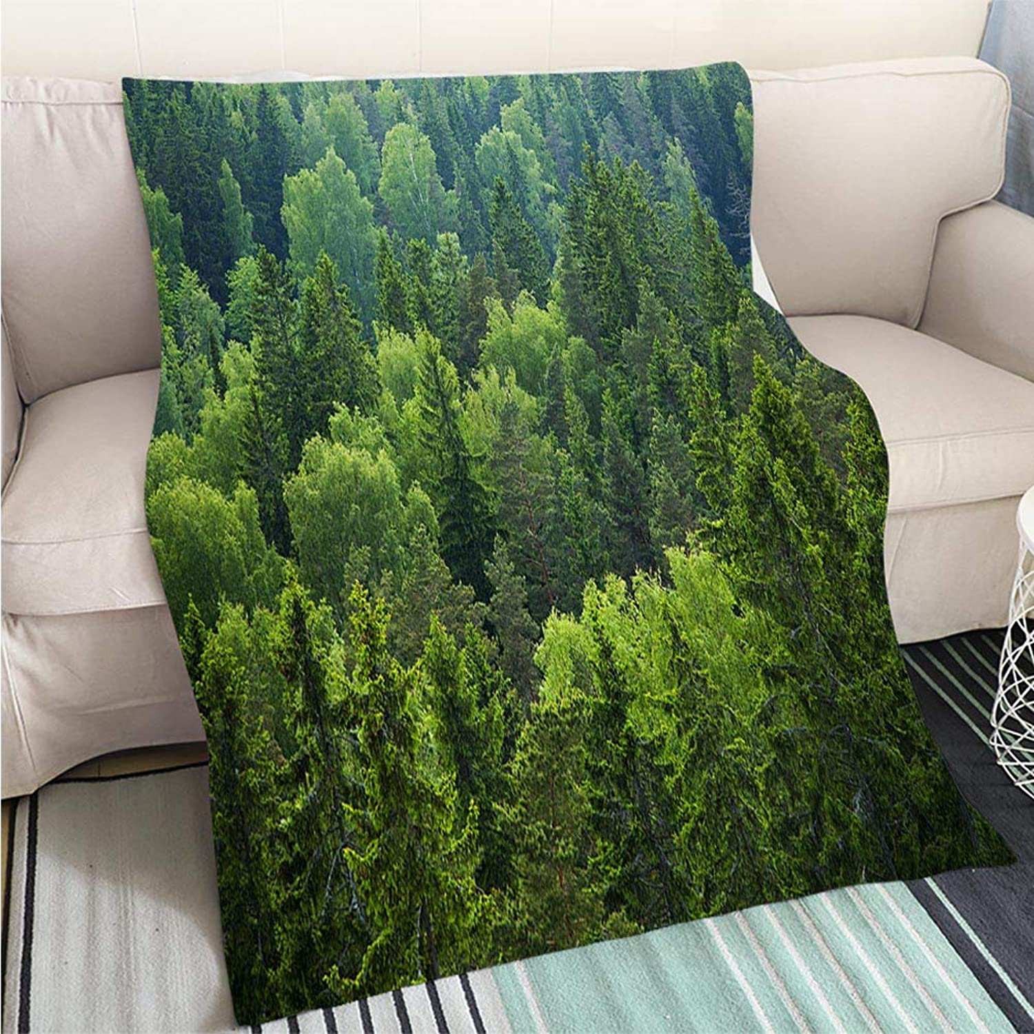 Art Design Photos Cool Quilt Mixed Forest Perfect for Couch Sofa or Bed Cool Quilt