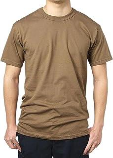 Tシャツ、US.軍用ブラウン (T42NーM)階級章ワッペン付