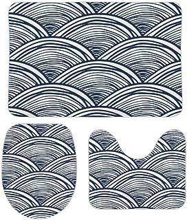 3 Pieces Bathroom Rugs Set Mermaid Scale, Extra Soft Bath Rugs Mat, Absorbent Plush Bath Rugs, Machine Washable & Non Slip...