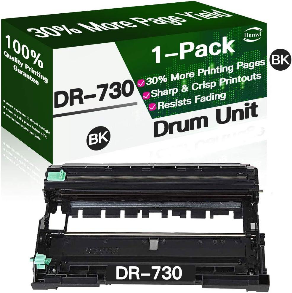Henwi Compatible DR730 DR-730 Drum Unit, for Brother HL-L2350DW HL-L2370DW HL-L2370DWXL HL-L2390DW HL-L2395DW MFC-L2750DW MFC-L2750DWXL DCP-L2550DW Printer (Black)