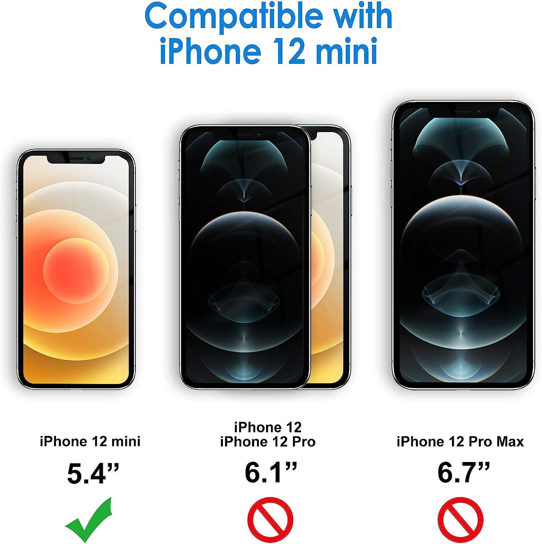 JETech Case for iPhone 12 Mini 5.4-Inch, Shockproof Bumper Cover, Anti-Scratch Clear Back (HD Clear)