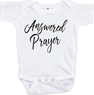 7 ate 9 Apparel Pregnancy Announcement Onepiece - Answered Prayer White