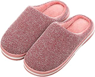 Men's Winter Cotton Slippers, Non-Slip Plush Warm Cotton Indoor Shoes with TPR Sole Can Be Used As A Dad,A,38/39