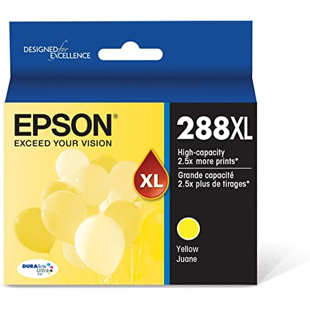 EPSON T288 DURABrite Ultra Ink High Capacity Yellow Cartridge (T288XL420-S) for Select Epson Expression Printers