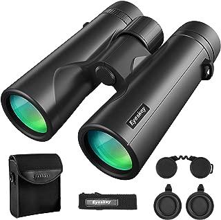 Eyeskey 8X42 Binoculars for Adults Compact Lightweight | Fully Waterproof & Fog-Proof |Wild Field of View | Low-Light Vision | HD Binocular for Wildlife Watching Hunting