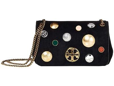 Tory Burch Chelsea Stud Evening Bag (Black) Handbags