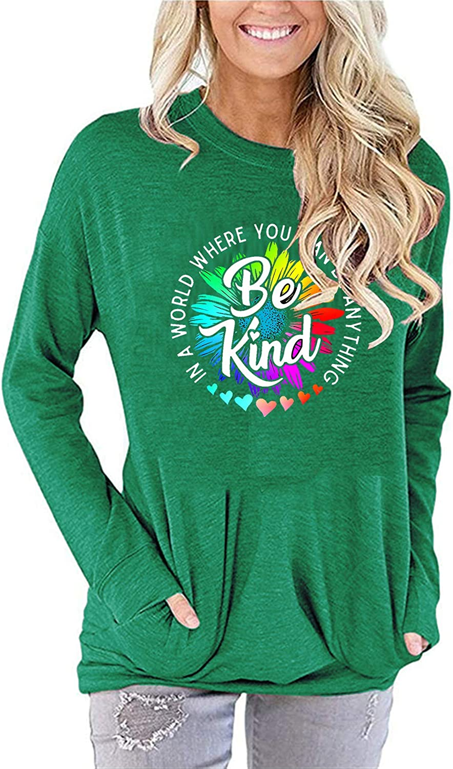 Sixmomy Outlet sale feature OFFer Womens Be Kind Tunic Tank Shirts Tops Funny Cute Graphic