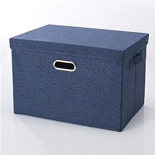 SHENRQIA Panier De Rangement Pliable Boîte De Rangement avec Couvercle Bin Container De Rangement Organiseur avec Poignée ...