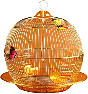 Hong Yi Fei-Shop-birdcage European-Style Golden Aristocratic Parrot Cage Fashion Exquisite