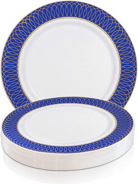 Elegant Disposable Plastic マーケット Dessert Plates Heavy 120 並行輸入品 - 7.25