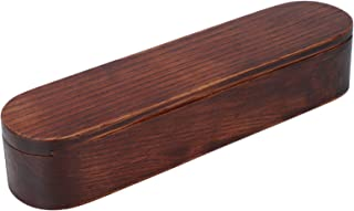 Portable Chopstick Box, 21x5.2X4cm Kökgafflar Trämaterial Rostfritt Stål Chopsticks Acacia Made