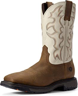 ARIAT Workhog Wide Square Toe Work Boot – Men's Leather, Square Toe Work Boot
