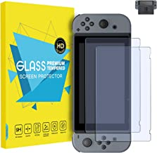MoKo Screen Protector for Nintendo Switch (2 Pack), Tempered Glass HD Clear Anti-Fingerprint & Anti-Bubble Film for Nintendo Switch 2017
