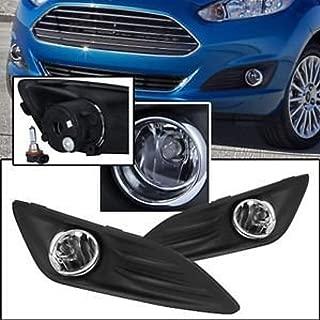 RP Remarkable Power, FL7093 Fit For 2014-2016 Fiesta Front Pari Fog Lights Clear Lens Bumper Lamps Set