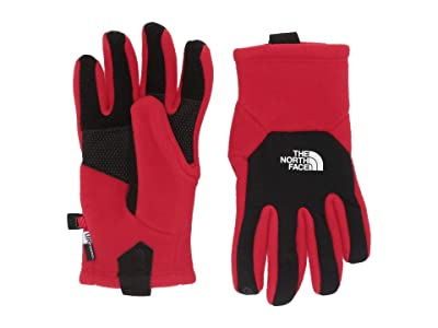 The North Face Kids Denali Etiptm Gloves (Big Kids) (TNF Red) Extreme Cold Weather Gloves