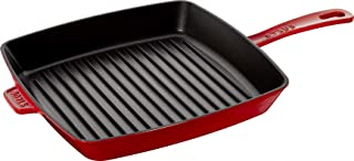 Staub 40501-111-0 American Grill Pan Cast Iron Suitable for Induction Cookers 30 cm Cherry Red