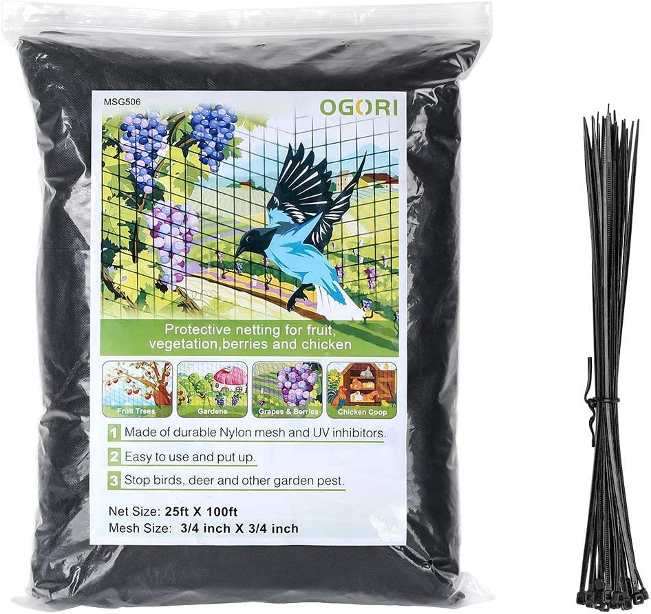 OGORI 25 X 100 ft Bird Time sale Poultry Chicago Mall Netting Protect Plants an