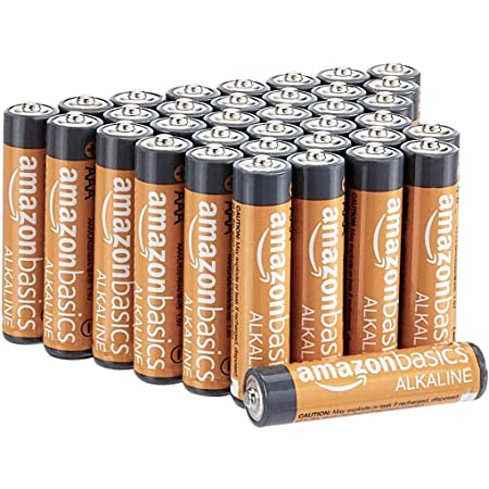 AmazonBasics - Pilas alcalinas AAA de 1,5 voltios, gama Performance, paquete de 36 (el aspecto puede variar)