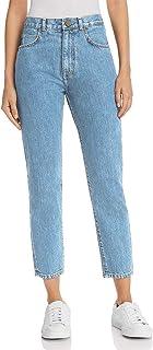 7776704deb38d MONYRAY Jeans Mom Taille Haute Femme Slim Fit Pantalon Décontracté en Denim  Chic à la Mode