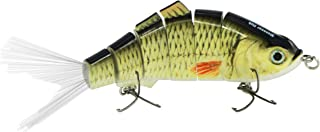 Discover Fish Fishing Lures with Fibre Rooster Fishtail Multi Jointed Swimbaits Slow Sinking Hard Baits Bass Trout Snook Lifelike for Freshwater Saltwater