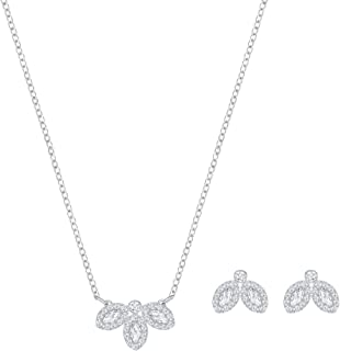 Swarovski Crystal Baron Rhodium-Plated Necklace and Earring Set