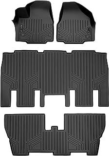 MAX LINER A0232/B0232/C0232 Floor Mats 3 Row Liner Set Black for 2017-2021 Chrysler Pacifica 8 Passenger Model Only (No Hy...