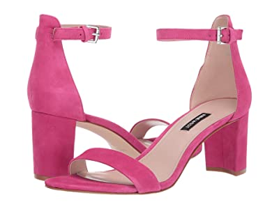 Nine West Pruce Block Heel Sandal (Bright Fuchsia) High Heels