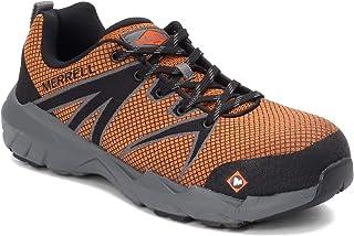 حذاء عمل Merrell للرجال، مقعد كامل 55 من خليط معدني لأصابع القدم, (برتقالي), 12 Wide