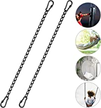 """JJDPARTS Chain, Hanging Hammock Chair Chain Hanging Kits with Two Carabiners for Hammock, Sandbag, Hanging Chair Indoor Outdoor (Two Chains 60cm 