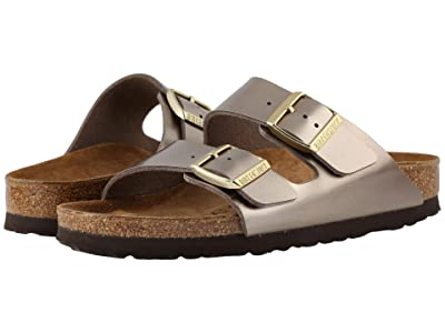 Birkenstock Arizona Birko-Flortm (Electric Metallic Taupe) Women