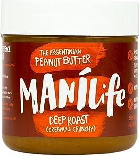 Manilife Deep Roast Peanut Butter Jar, Crunchy, 295 g