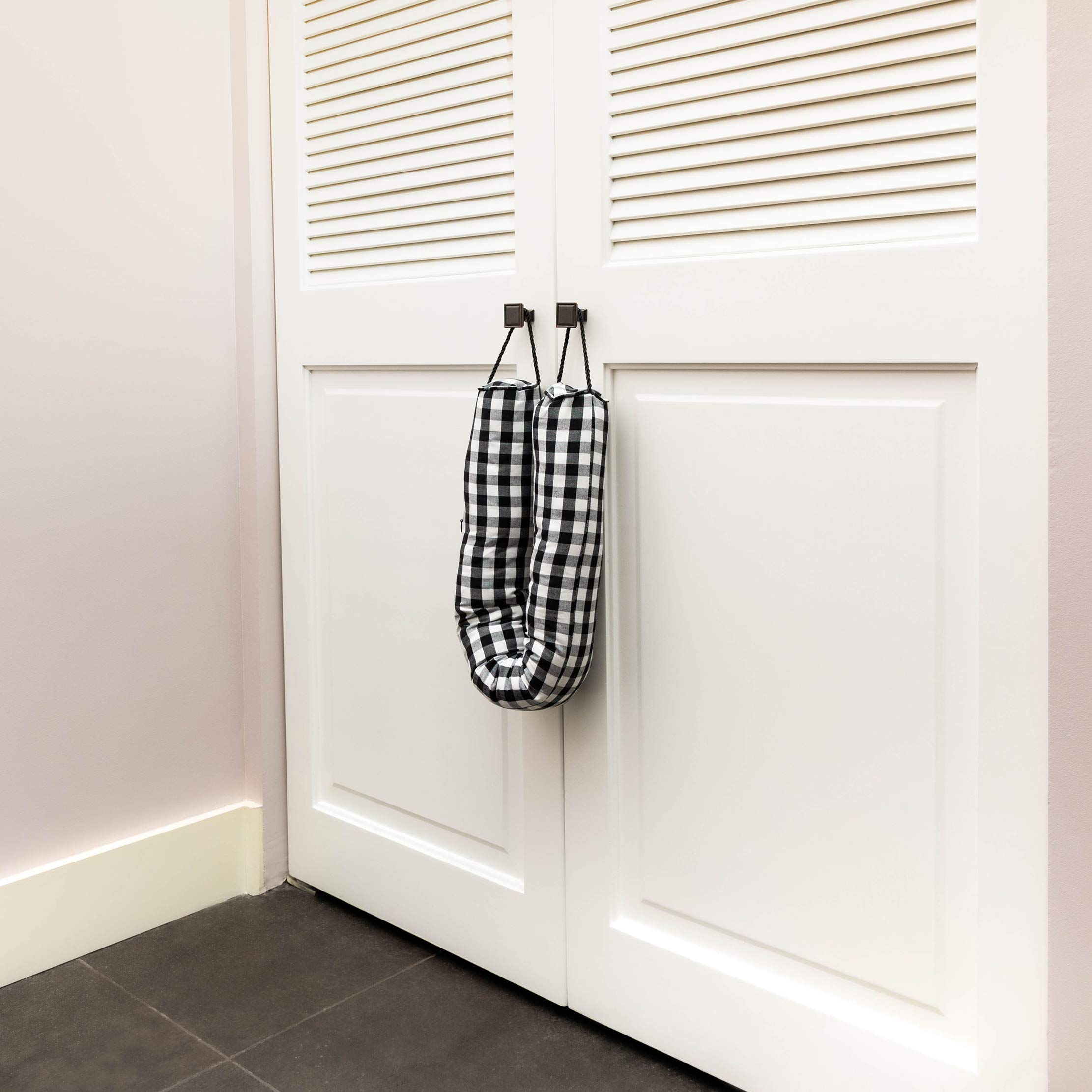 3.3 Lbs, 33.5 Inches Weighted Heavy Duty Sand Door Stop Black Draft Stopper