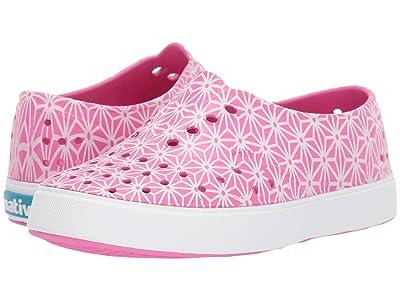 Native Kids Shoes Miller Print (Little Kid) (Festival Pink/Shell White/Asanoha Glow) Girl
