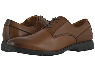 Florsheim Westside Plain Toe Oxford (Cognac Smooth) Men