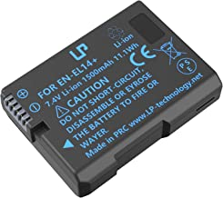 LP EN-EL14 EN EL14a Battery, Compatible with Nikon D3100, D3200, D3300, D3400, D3500, D5100, D5200, D5300, D5500, D5600, DF, P7000, P7700 & More
