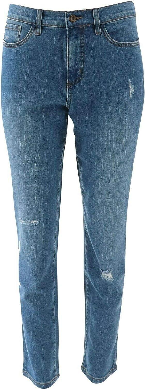 Studio Denim & Co Denim Ankle Jeans Indigo Antique Wash 28W New A304472