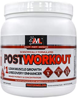 Advanced Molecular Labs - Postworkout Powder, Lean Muscle Growth, Recovery Enhancer, Muscle Building Post Workout Recovery Drink for Women and Men, Watermelon, 12.3 oz