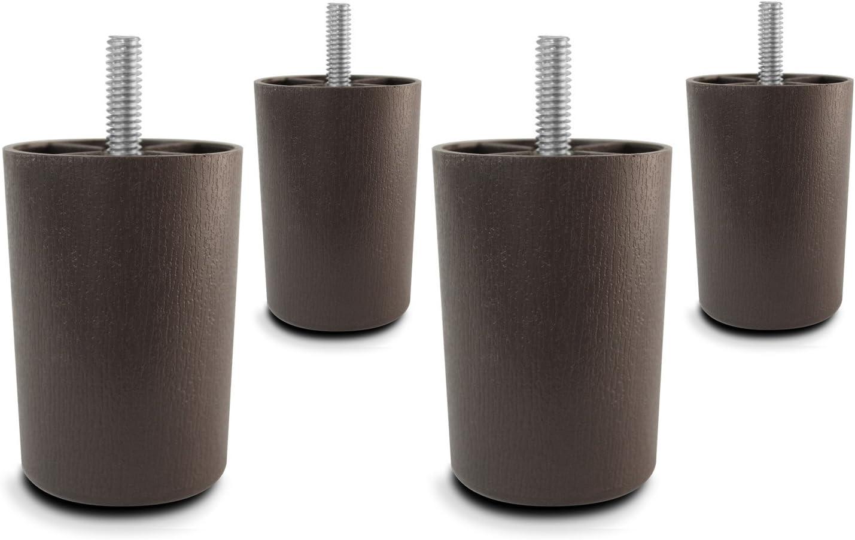 Choice Parts - 3 Inch Dark Los Angeles Mall Tapered Sofa Set Super beauty product restock quality top! Walnut Plastic Legs