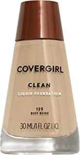 COVERGIRL Clean Makeup Foundation,Buff Beige 125, 30 ml