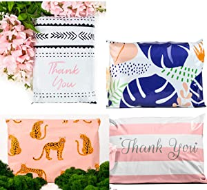 10x13 Pack of 100 Sample Pack Reusable Poly Mailers Eco-Friendly Double Seal Pull Tab Reusable Designer Boutique a la Mode