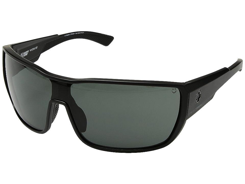 Spy Optic Tron 2 (Matte Black/Happy Gray Green) Athletic Performance Sport Sunglasses