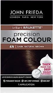 John Frieda 16204 Precision Foam Colour, Dark Natural Brown 4N