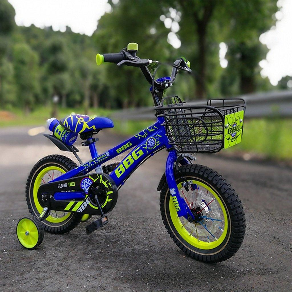 Fenfen Bicicleta luminosa para niños Bicicleta para niños de 12/14/16 pulgadas 2-8 años Pedal para niño y niña Bicicleta azul (Size : 12 inch blue): Amazon.es: Hogar