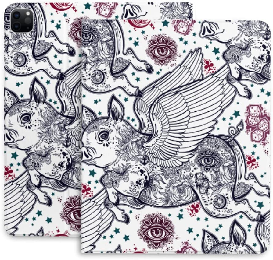 Case for Ipad Pro 12.9 Department Popularity store Flying Piglet Winged Pig Protecti Pattern