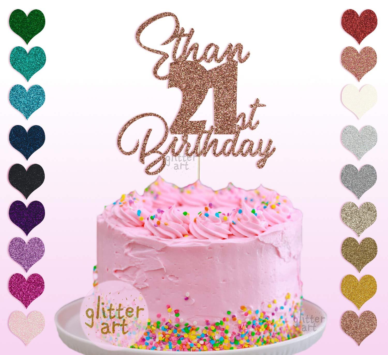 Outstanding Personalised Custom Ethan 21St Birthday Birthday Party Cake Topper Funny Birthday Cards Online Ioscodamsfinfo